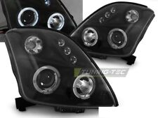 RINGS HEADLIGHTS LPSI02 SUZUKI SWIFT 2005 2006 2007 2008 2009 2010 BLACK