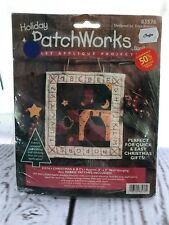 "NIP Bucilla PATCHWORK Kit #83576 Trice Boerens Christmas ABC's 8"" x 9"" Wall Hang"