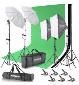 Neewer Umbrellas 2.6m X 3m/8.5ft X 10ft 800W Background Light Support READ!!!