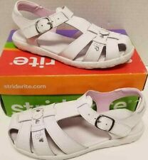 Kids Girls Stride Rite Summer White Size US 3W Sandals NIB