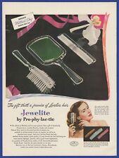 Original Vintage 1948 JEWELITE Women's Comb Brush RARE Print Ad 1940's