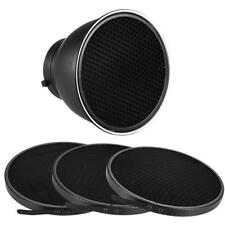 "Phot-R 7"" Studio Reflector Dish 3x Honeycomb Grids 10/30/50° Bowens S-Type Mount"