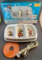 Vintage EVENFLO Electric Feeding Dish, Cord, Cover, Original Box, 1984, WORKS