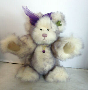 Vintage Annette Funicello Mohair Sweetheart Bear Amethyst Gem Collection 1992