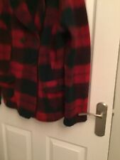 Next Boiled Wool Tartan Deep Red Jacket 18 20