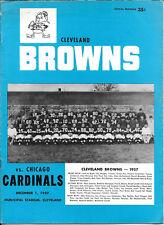 DEC 1, 1957 CLEVELAND BROWNS vs CHICAGO CARDINALS VINTAGE FOOTBALL PROGRAM