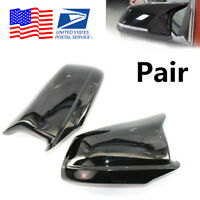 For BMW 5 Series F10/F11/F18 Pre-LCI 11-13Glossy Door Side Wing Mirror Caps 2Pc
