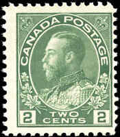 Mint NH 1923 Canada F Scott #107e 2c King George V Admiral Stamp