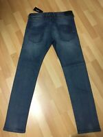 NWD Mens Diesel BELTHER LYOCELL STRETCH DENIM 084RB BLUE SLIM W32 L34 H7 RRP£170