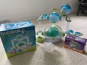 Habitrail OVO Dwarf Hamster / Mouse / Gerbil Cage Run + Extras Mini Maze & Ball!