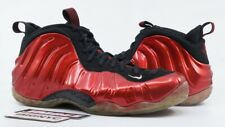 NIKE AIR FOAMPOSITE ONE 2012 USED SIZE 11 VARSITY RED WHITE BLACK 314996 610