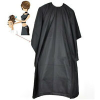CG_ Hair Cutting Cape Pro Salon Hairdressing Hairdresser Gown Barber Solid Black