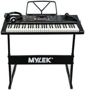 Keyboard Piano 61 Key Musical Electronic Digital Adults Beginner With Stand