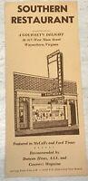 Vintage Antique Southern Restaurant Waynesboro, Virginia 415 W. Main St