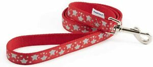 Ancol Reflective Star Lead Red