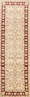 3x10 IVORY Geometric Peshawar Oriental Runner Rug Hand-knotted Wool 10 ft Carpet