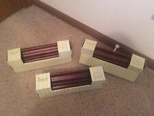 "12"" Wooden Shelf Walnut, Nantucket Ledge, Set Of Three, NWT"