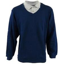 Cotton V Neck Long Sleeve Casual Shirts & Tops for Men