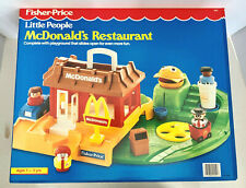 1989 Fisher Price Little People McDonald's Restaurant Play Set New In Sealed Box