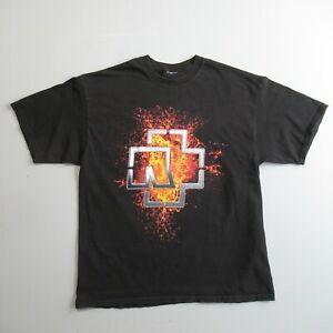 Vintage Rammstein T Shirt Double Sided Print Black XL
