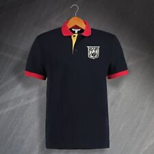 Derby Football Polo Shirt Embroidered 1946 Tricolour Navy Yellow Red Size XL