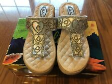 """Women's """"Italina By Summer Rio"""" T-strap Fashion Wedge Sandals, Size 5.5M"""
