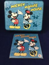 Mickey And Minnie Mouse Fossil Tin & Puzzle