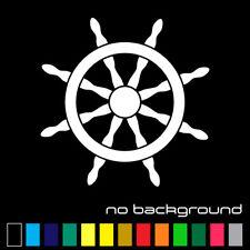 Ship Wheel Sticker Vinyl Decal - Sailboat Nautical Boat Ocean Sailing Car Window