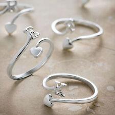 Pave Ladies Initial Ring BNIB