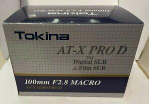 Tokina AF 100m Macro f/2.8 AT-X PRO D AF Lens for Nikon Used