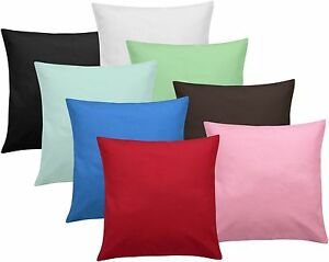 Plain Dyed Cushion Covers: Filled or Unfilled, Multiple Colours and Sizes