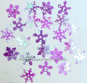 Iridescent Snowflake Table Confetti Christmas Winter Wonderland Party Decoration