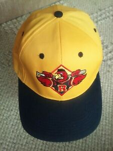 Y2k Rochester Red Wings Hat promo snapback Minor League mustard Yellow rare