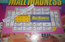 VINTAGE 1989 MALL MADNESS SHOPPING MALL BOARD GAME REPLACEMENT PART YELLOW CARD