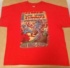 Vintage Comic Book Cover T Shirt Captain America #101 XXL 2XL When Wakes Sleeper