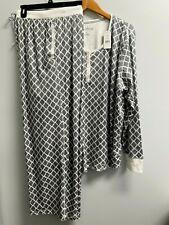 3x Nautica Pajamas 2 Pc. Silky Stretch Fleece Sleepware Loungewear Set