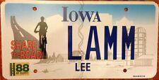 Iowa SHARE ROAD license plate Bike Bicycle Cycling Jog Biker Runner Motorcycle