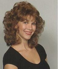 Light Brown Short Curly Layered Shag Style Wig w/ Bangs