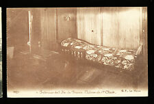 SS Ile de France Postcard - 1st Class Cabin - French Line / CGT