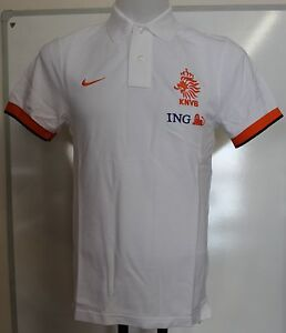 HOLLAND 2012-13 WHITE POLO SHIRT BY NIKE SIZE MEN'S SMALL BRAND NEW WITH TAGS