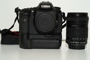 Canon 7d Mark i with Battery Grip, 4x LP E6N Batteries and 18-135 mm Lens Kit
