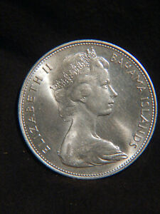 Bahamas 1966 $5 STERLING SILVER Coin 925/1000 Beautiful & Big Stack Or Collect
