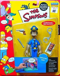SERIES 7 OFFICER LOU THE SIMPSONS WOS ACTION FIGURE PLAYMATES MIP