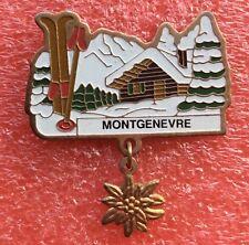 Pins MONTAGNE SKI Station MONTGENEVRE Chalet Haute Alpes Fleur Edelweiss