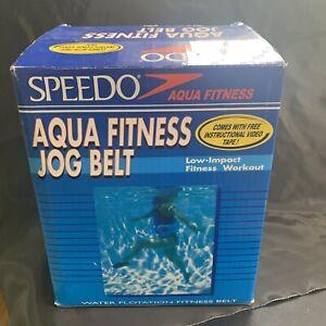 Speedo Aquatic Fitness Jog Belt Aqua Jogger Flotation Support Therapy Vtg VHS