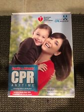 Infant CPR Anytime DVD Training Kit Complete Unused Manikin AHA
