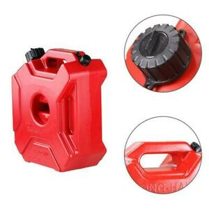 3L Plastic Jerry Cans Gas Container Diesel Fuel Tank Car Motorcycle w/Lock Clamp