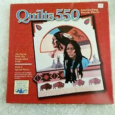 NEW Milton Bradley QUILTS 550 Early Travelers Interlocking Puzzle Native America