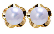 Cute Small Bridal White Pearl Stud Earrings for small Girls or Women E743