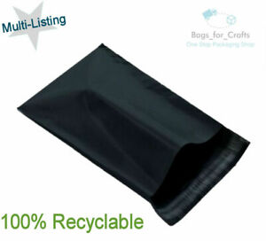 BLACK Recyclable Mailing Postal Postage Parcel Mail Bags  Multi Size & Quantity